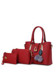 Twist-Lock Metal Faux Leather Tote Bag