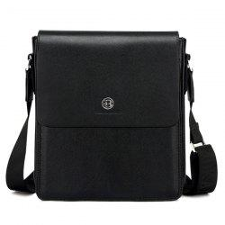 Covered Closure Dark Colour Crossbody Bag