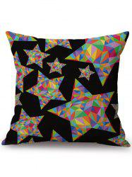 Colorful Star Linen Office Chair Sofa Throw Pillow Case - COLORMIX
