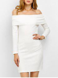 Off the Shoulder Bodycon Long Sleeve Party Mini Dress