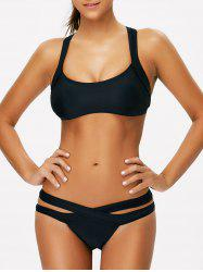 Criss Cross Hollow Out Sporty Bikini