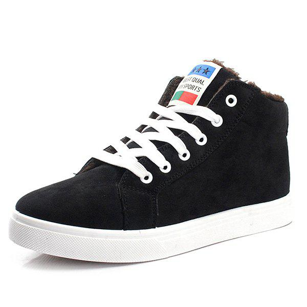 Fancy High Top Suede Tie Up Casual Shoes