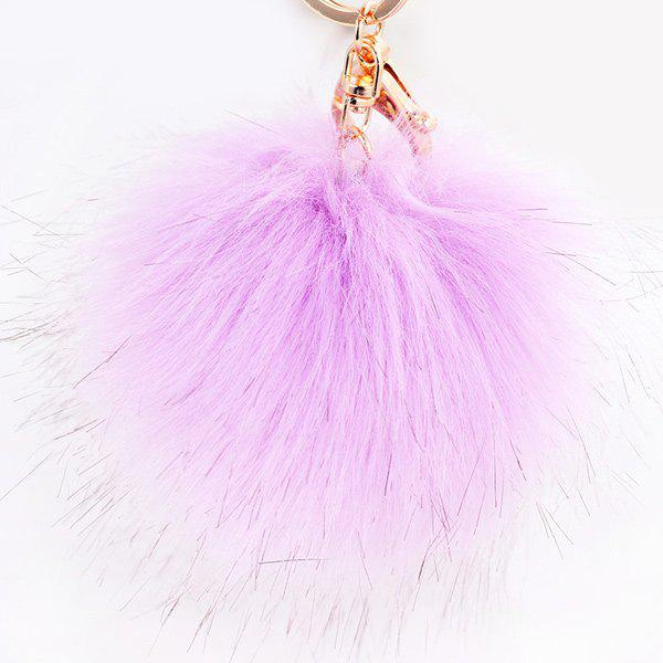Hot Round Fuzzy Ball Keyring