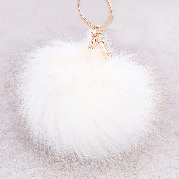 Sale Round Fuzzy Ball Keyring