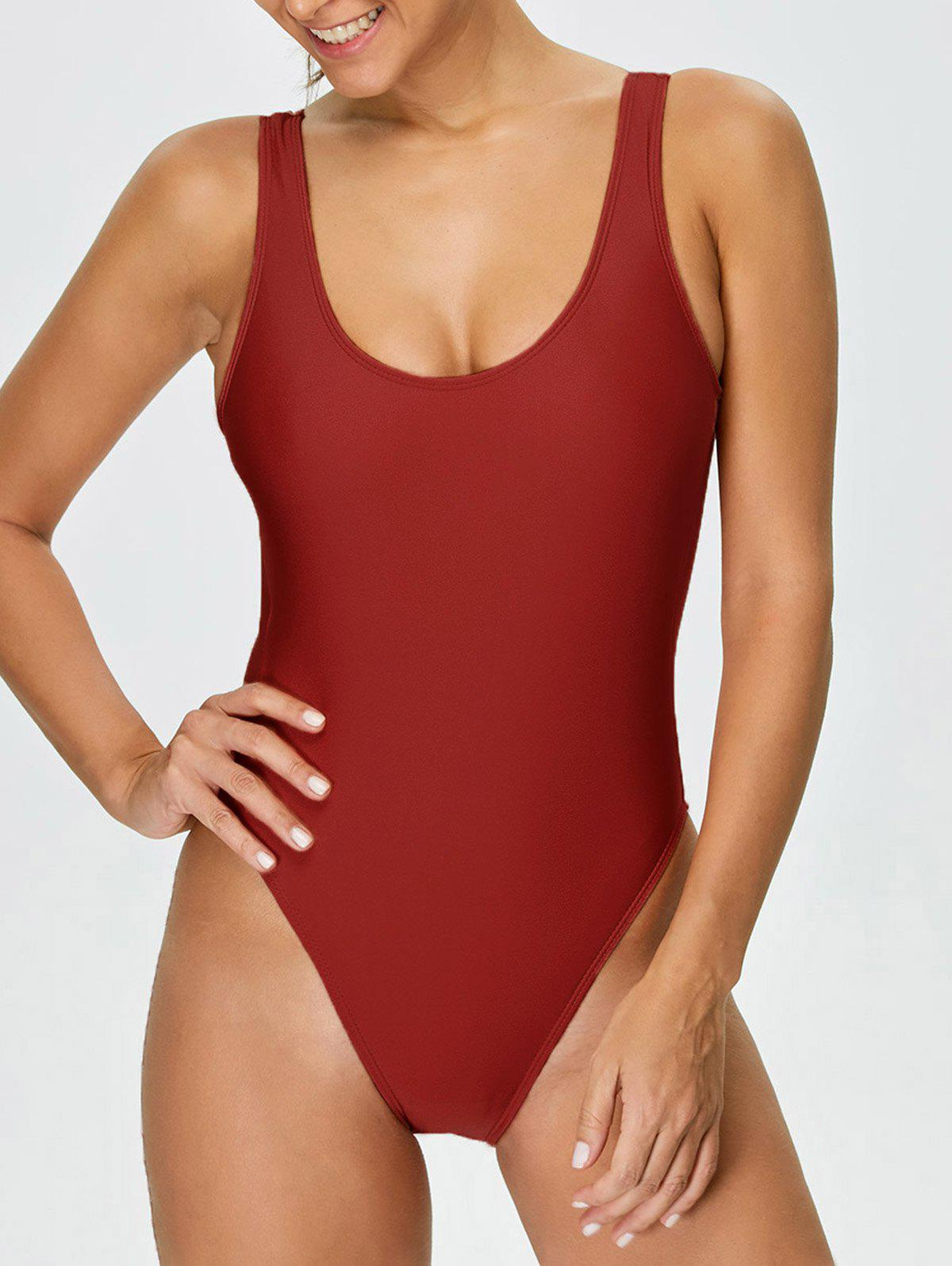 Store Backless High Cut One-piece Swimwear