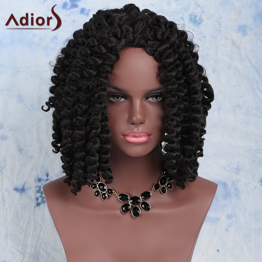 Latest Fashion Short Dark Brown Afro Curly Women's Synthetic Hair Wig