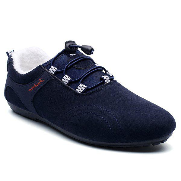 Buy Elastic Band Flocking Suede Casual Shoes