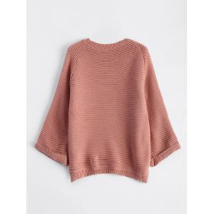 High Low Flare Raglan Sleeve Knit Sweater -