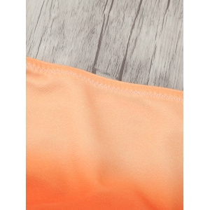 Seamless Surf Tie-Dye Skimpy Bikini Bottoms - ORANGE L