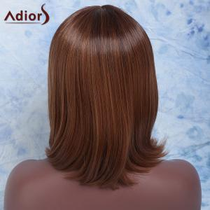 Vogue Synthetic Short Straight Centre Parting Mixed Color Wig For Women -