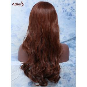 Long Side Parting Wavy Mixed Color Women's Fashion Synthetic Hair Wig - COLORMIX