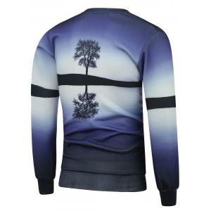 Crew Neck Tree 3D Print Sweatshirt -