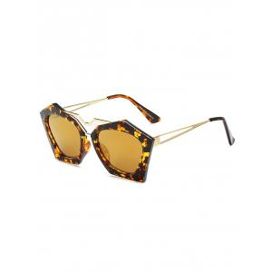 Irregular Leopard Faux Amber Polarized Sunglasses