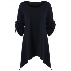 Plus Size Long Sleeve Asymmetrical Tee