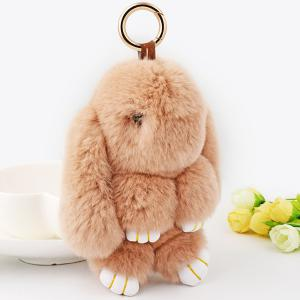 Rabbit Soft Plush Pendant Keyring Bag Keychain -