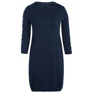 Polka Dot Double Pockets Shift Dress