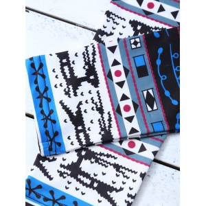 Stretchy Geometric Print Christmas Leggings -