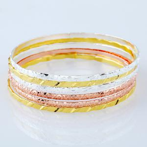 Alloy Bracelet Set - COLORMIX