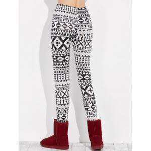 Skinny Geometric Leggings -