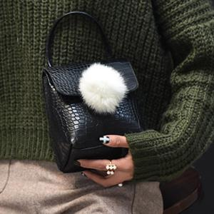 Pom Poms Mini Crossbody Bag -