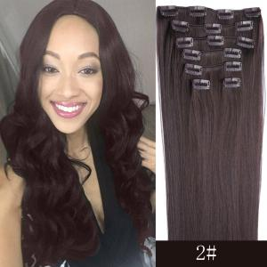 7 Pcs/Set Long Straight Clip-In High Temperature Fiber Hair Extension