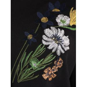 Long Sleeve Floral Embroidered Top -