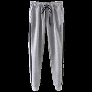 Drawstring Athletic Big and Tall Jogger Pants - Gray - S