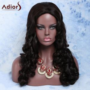 Charming Synthetic Deep Brown Long Fluffy Big Curly Wig For Women -