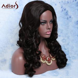Charming Synthetic Deep Brown Long Fluffy Big Curly Wig For Women - DEEP BROWN