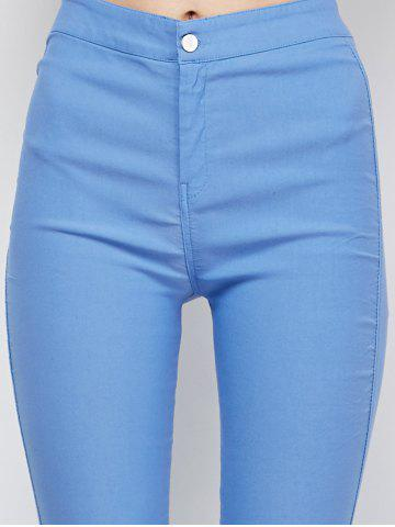 Latest Ripped High Waist Pencil Jeans - M LIGHT BLUE Mobile