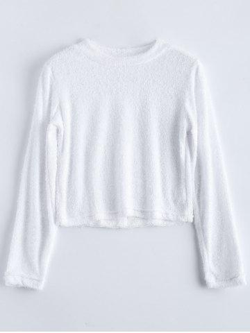 Outfits Fuzzy Cropped High Neck T-Shirt
