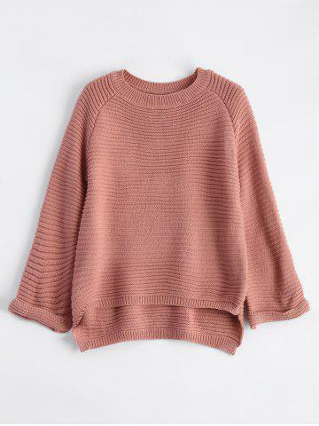 Store High Low Flare Raglan Sleeve Knit Sweater