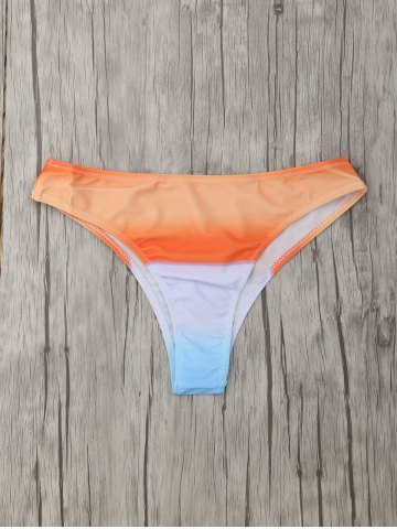 Best Seamless Surf Tie-Dye Skimpy Bikini Bottoms - M ORANGE Mobile