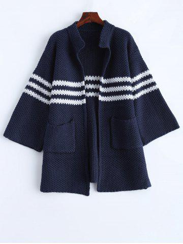 Shop Knitted Chunky Striped Cardigan