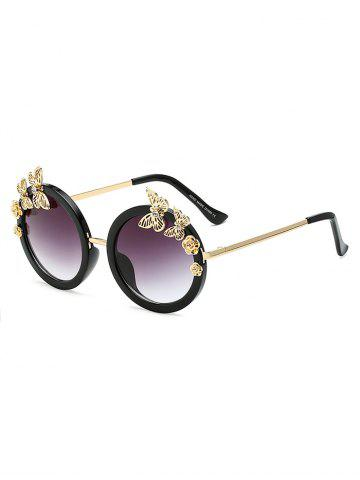 Online Rhinestone Butterfly Flower Oval Beach Sunglasses