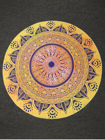 Affordable Tribal Print Round Beach Throw - ONE SIZE YELLOW Mobile