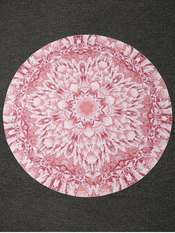 Affordable Bohemian Lotus Print Round Shape Beach Throw