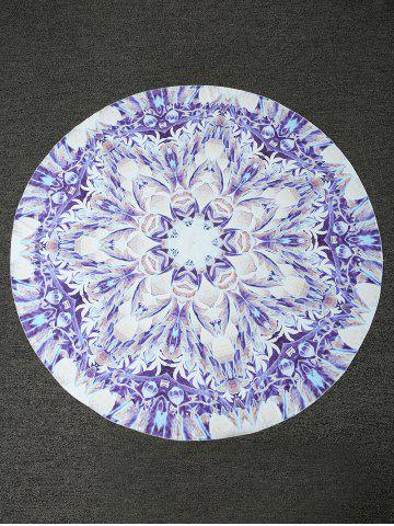 Fashion Bohemian Lotus Print Round Shape Beach Throw