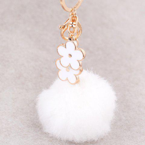 Buy Bag Accessories Fuzzy Pom Ball Keyring - WHITE  Mobile