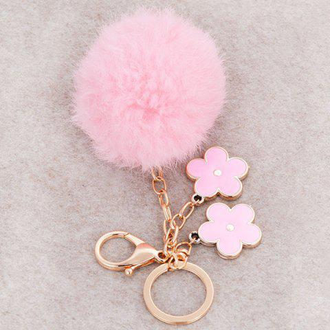 Online Bag Accessories Fuzzy Pom Ball Keyring - PINK  Mobile