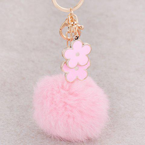 Unique Bag Accessories Fuzzy Pom Ball Keyring - PINK  Mobile