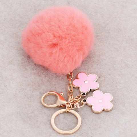 Discount Bag Accessories Fuzzy Pom Ball Keyring - ORANGEPINK  Mobile