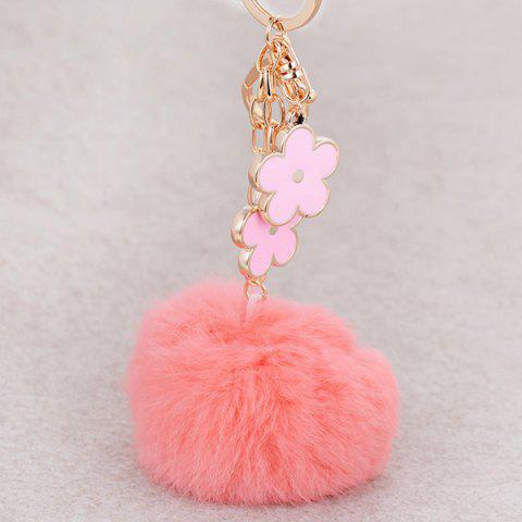 Online Bag Accessories Fuzzy Pom Ball Keyring