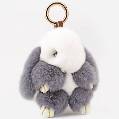Chic Rabbit Soft Plush Pendant Keyring Bag Keychain - GREY AND WHITE  Mobile