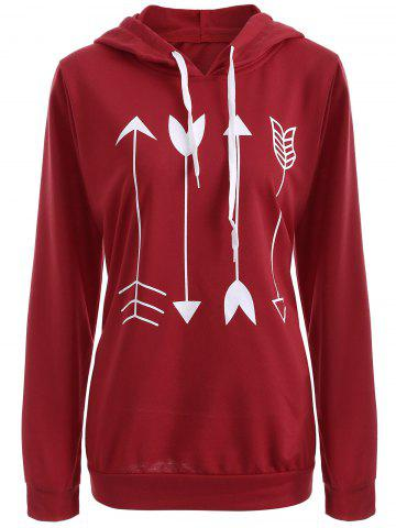 Store Plus Size Arrows Print Pullover Hoodie