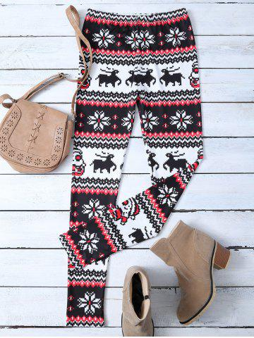 Online Stretchy Printed Christmas Leggings
