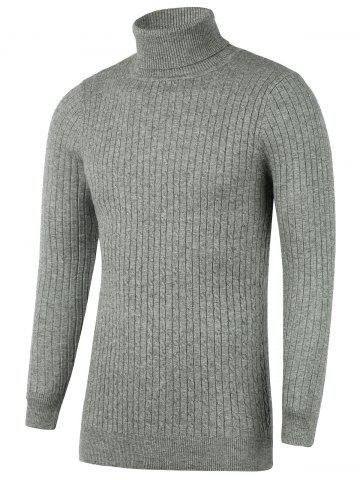 Discount Turtleneck Ribbed Twist Knit Sweater