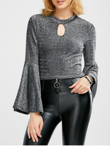 New Bell Sleeve Glitter Top