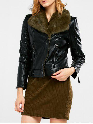 Cheap Faux Shearling Biker Jacket