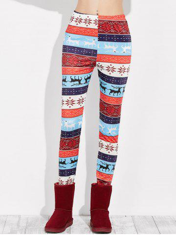 Chic Snowflake Christmas Leggings MULTI XL